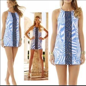 LILLY PULITZER ANNABELLE BAY BLUE SHIFT DRESS